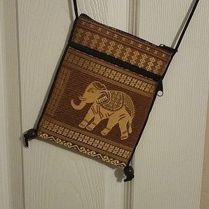 Handbags - Brown/Tan Elephant Crossbody Bag